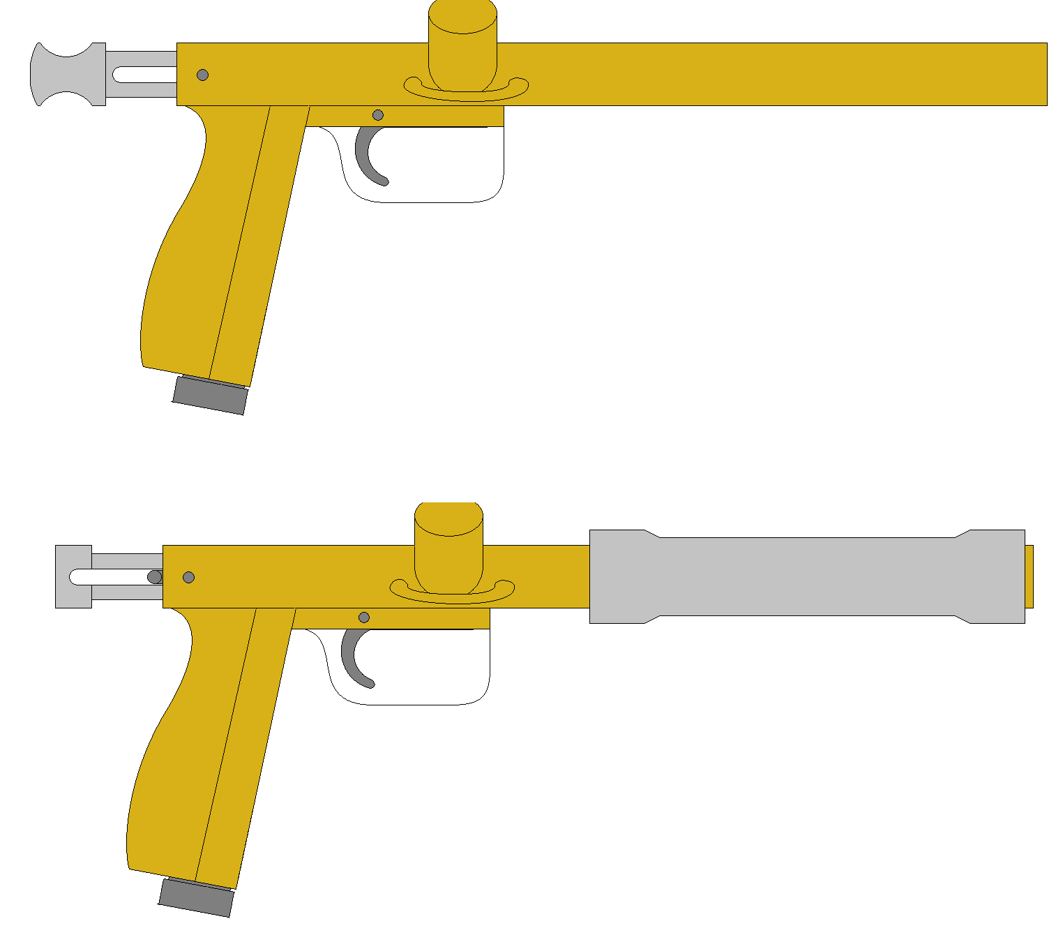 basically how i wanted the thing to look when i was done. pump action - of course